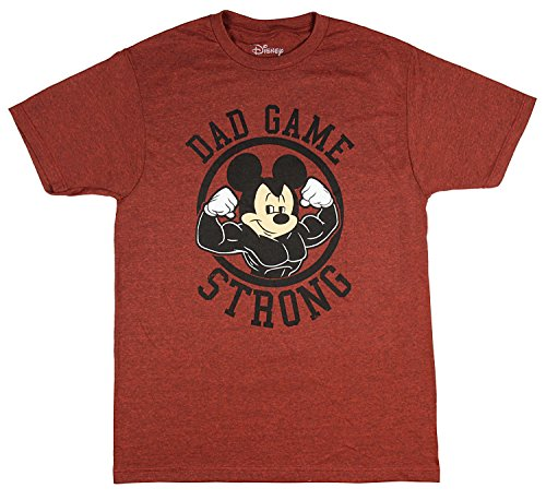 Disney Men's Mickey Mouse Dad Game Strong T-Shirt (Small)