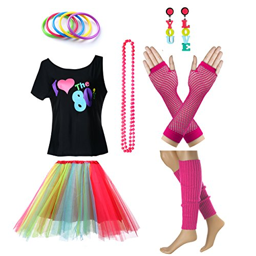 Women's I Love The 80's T-Shirt Outfit Set