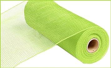 10 inch x 30 feet Deco Poly Mesh Ribbon Apple Green Value Mesh