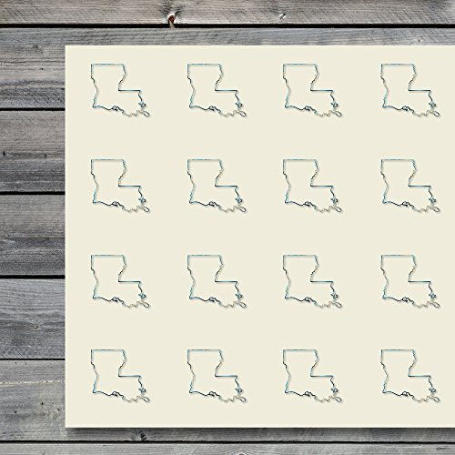 Louisiana Map Usa States State Craft Stickers, 44 Stickers at 1.5 Inches, Great Shapes for Scrapbook, Party, Seals, DIY Projects, Item 634446