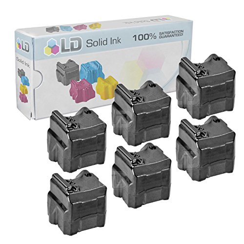 - LD Compatible Solid Ink ColorStix Replacement for Xerox Phaser 8560 108R00727 (Black, 6-Pack)