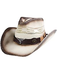 Straw Cowboy Hat for Men Cowgirl Hat for Women Western Wide Brim Hat Hats c353b7afc2b5