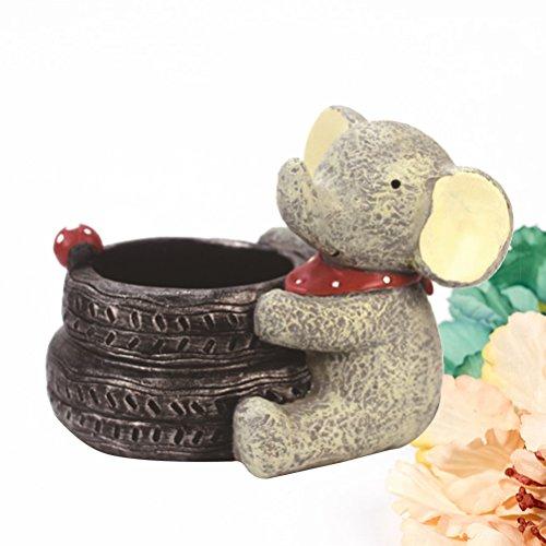 VORCOOL Cartoon Elephant Flower Pots Children's Room Desktop Decor Potted Flowerpot Creative Home Decoration Flower Vase by VORCOOL (Image #1)