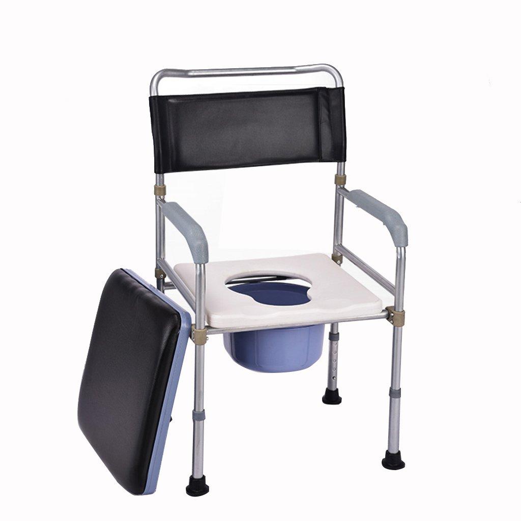 家庭用ステンレススチール折りたたみトイレ椅子高齢者ノンスリップ調節可能なバスチェア妊娠中の女性バリアブル便 B07CN4B5ZL