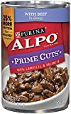Purina ALPO Brand Dog Food Prime Cuts With Beef In Gravy Wet Dog Food, 22-Ounce Can Pack of 12