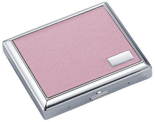 New - India Pink Leather Double Sided Cigarette Case - VCM102