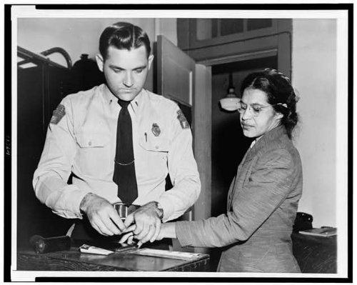 Photo: Fingerprinted, Rosa Parks, Montgomery, D.H. Lackey 1956