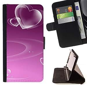 Momo Phone Case / Flip Funda de Cuero Case Cover - Amor Modelo púrpura del corazón - Samsung Galaxy E5 E500