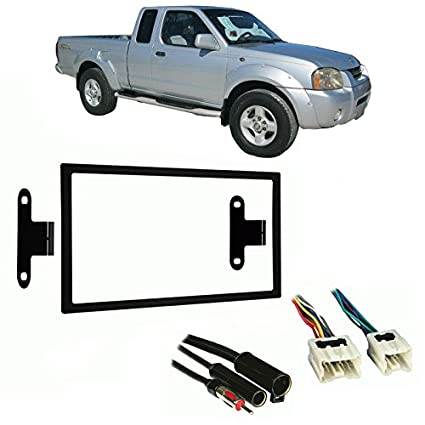 51KiMwyLNDL._SX425_ amazon com fits nissan frontier 98 01 double din stereo harness