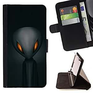 Jordan Colourful Shop - alien space grey man black For Samsung Galaxy S6 - Leather Case Absorci???¡¯???€????€?????????&Ati