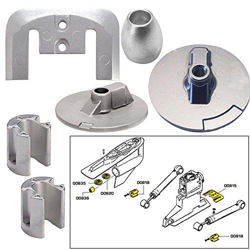 Tecnoseal Anode Kit w/Hardware - Mercury Bravo 3 2004 - Aluminum by Tecnoseal