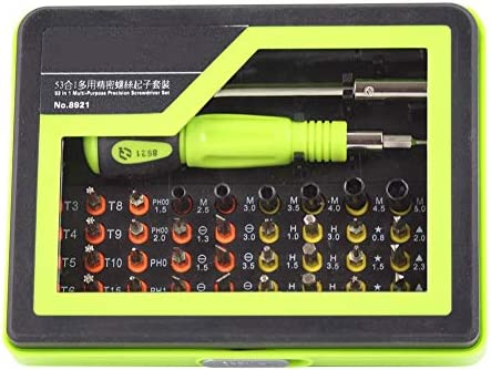 Torxドライバーキット、エレクトロニクスPCラップトップ用1マルチビット修復ツールに付き53