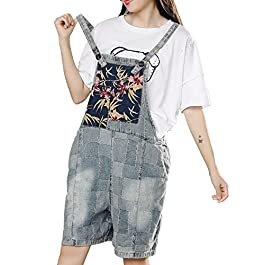 YESNO P16 Women Fashion Casual Jumpsuits Rompers Denim Overalls