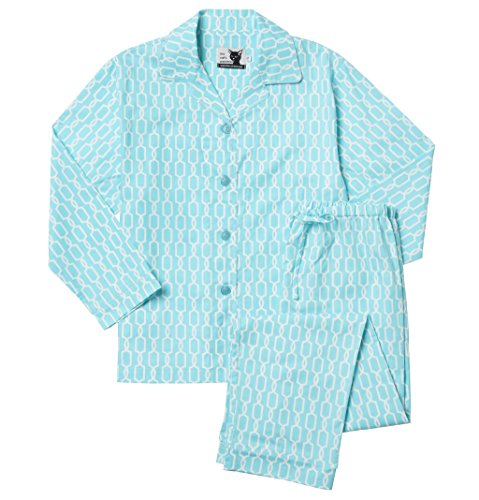 The Cat's Pajamas Daisy Chain Blue Cotton Pajamas (X-Small)