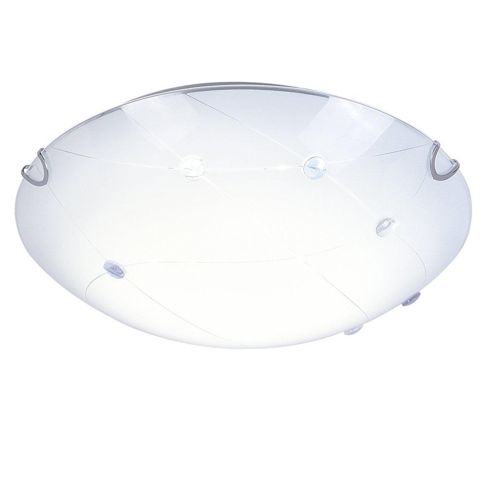 Modern Minimalist LED Ceiling Light,K9 Crystal+Glass+Metal Flush Mount Light Fixture, Dimmable Chandelier Lighting for Living Room, Bed Room,Kitchen,Hallway 11.8 Inch 4000K Daylight White 1320LM