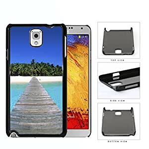Beautiful Tropical Beach Island with Bridge Hard Snap on Phone Case Cover Samsung Galaxy Note 3 N9000