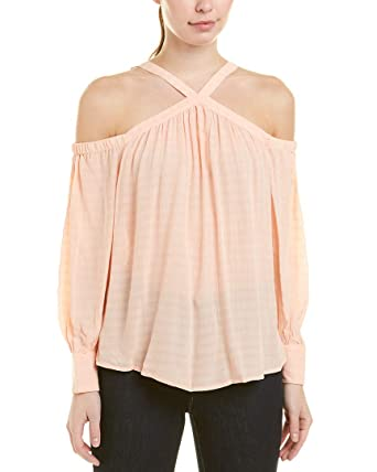 ec1681f08bf83a 1.State Women s High Neck Cold Shoulder Blouson Blouse at Amazon Women s  Clothing store