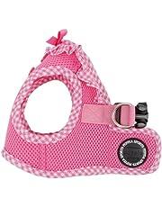 Puppia Gingham Dog Vest, Pink Medium