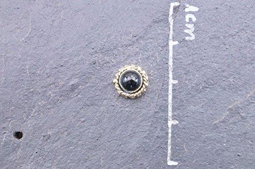 Boucles d'oreilles liaton avec Onyx Ø 9 mm