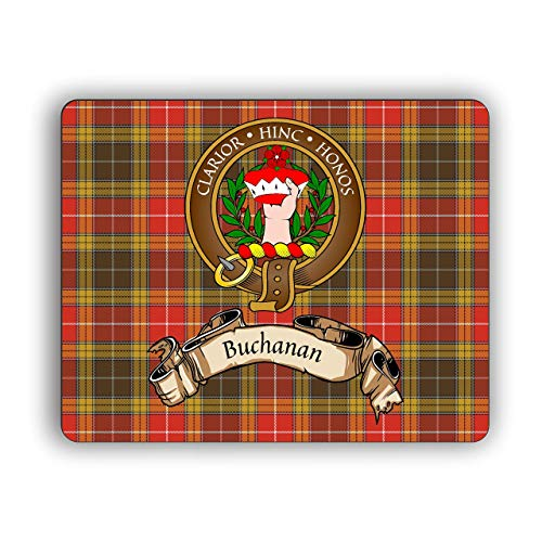 Scottish Clan Buchanan Old Tartan Crest Computer Mouse Pad