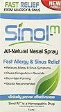 Sinol-M Fast Allergy & Sinus Relief All Natural Nasal Spray 15 ml (Pack of 3)