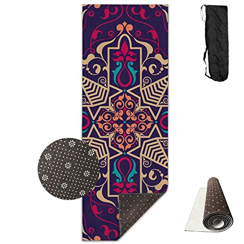 Cawhjdw Aztec Pattern Extra Thick High Density Non Slip Anti Tear Exercise Hot Pilates Yoga Mat For Workout