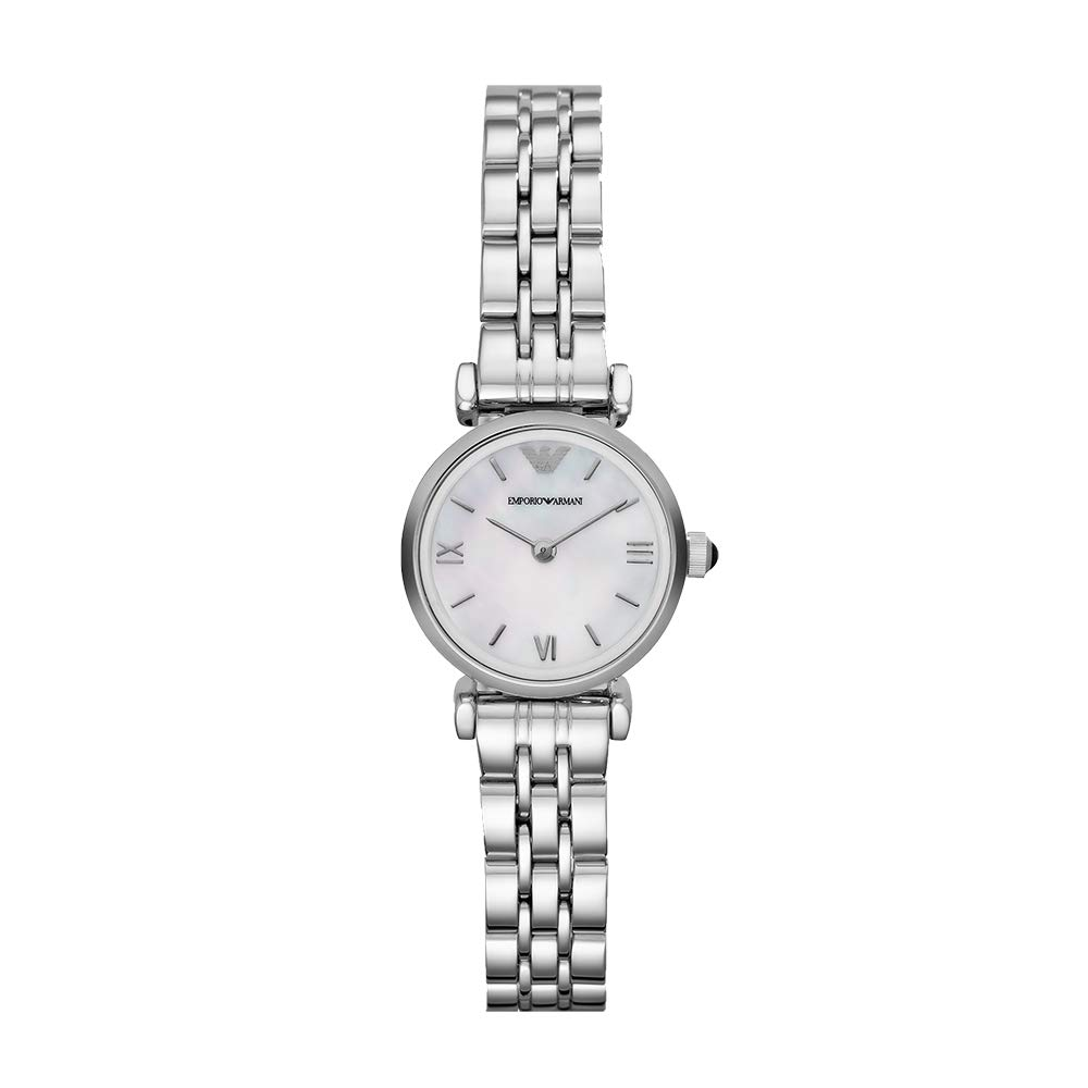 Emporio Armani Analog Off-White Dial Women's Watch