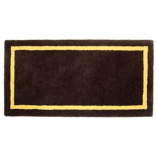 Minuteman International Deep Taupe Contemporary Wool Hearth Rug, Rectangular