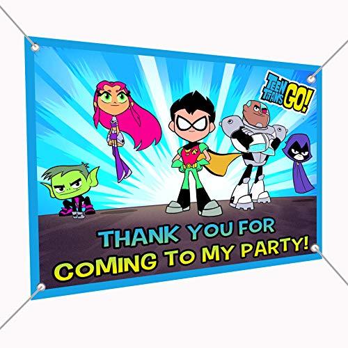Teen Titans Go Banner Large Vinyl Indoor or