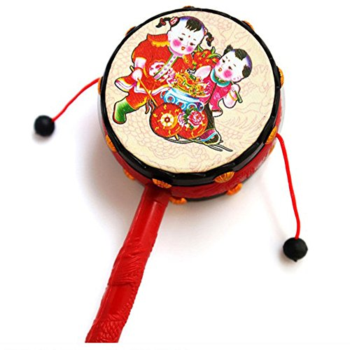 JETTINGBUY KidiBeats Kids Drum Set Rattle Drum Spin