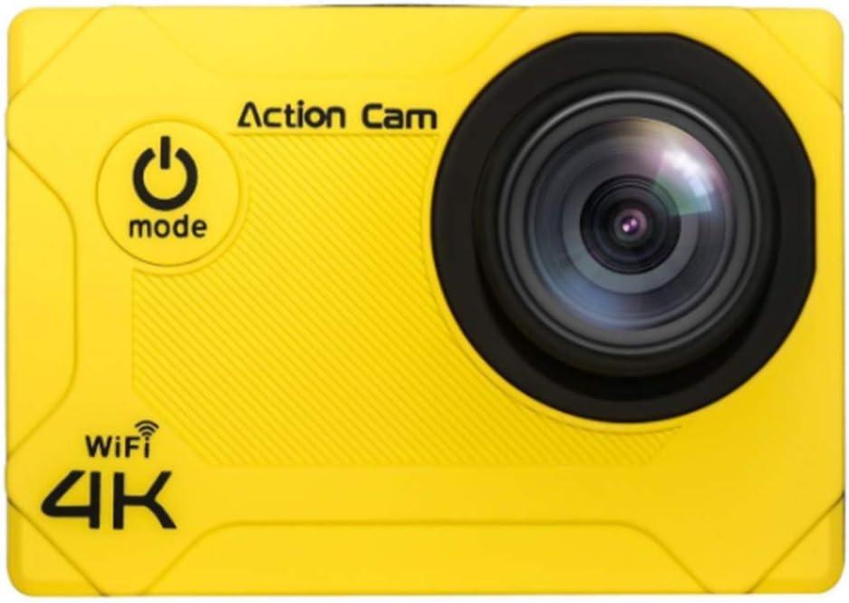 XRQ Cámara Deportiva multifunción 4K Mini cámara Deportiva Impermeable WiFi cámara de Buceo HD para Exteriores Material ABS 1600w píxeles Disponibles 90 Minutos,Amarillo: Amazon.es: Hogar