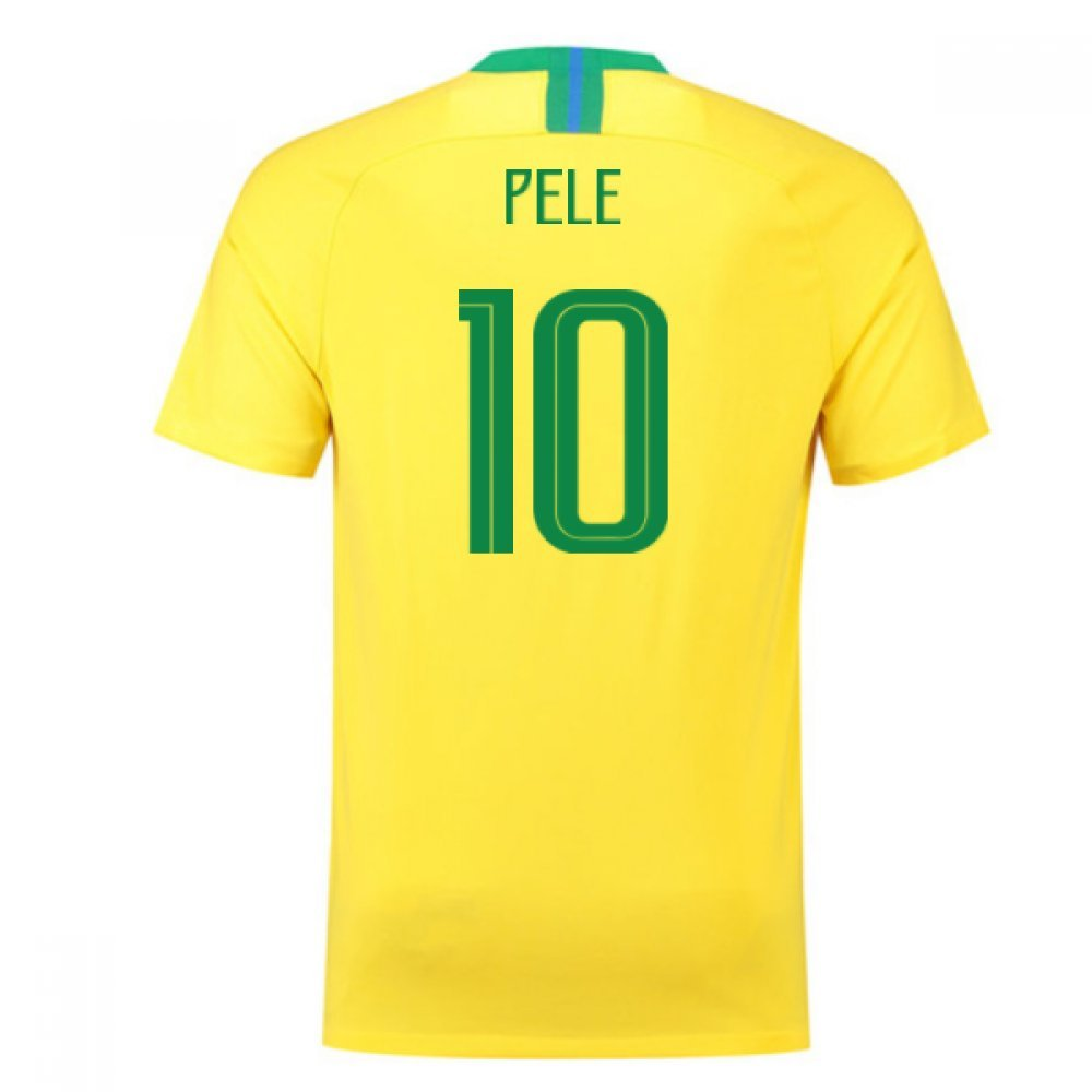 人気定番 2018-2019 Brazil 10) Home Nike Football Chest Football Shirt (Pele 10) B07DK5YT3D Small 34-36