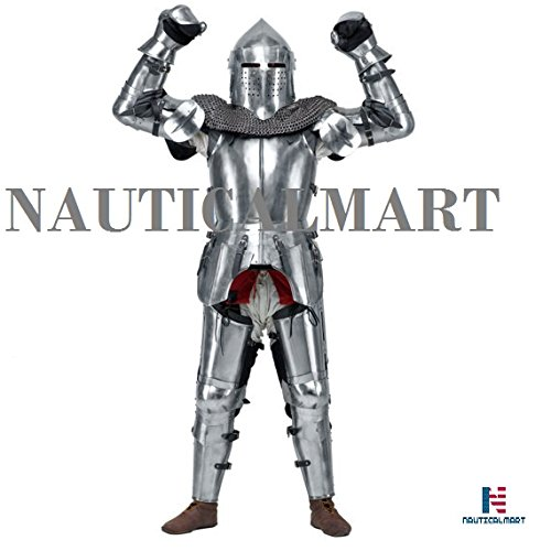 Medieval Knight's Armor SCA LARP steel fantasy battle historical reenactment full medieval armor Halloween by NAUTICALMART (Image #2)