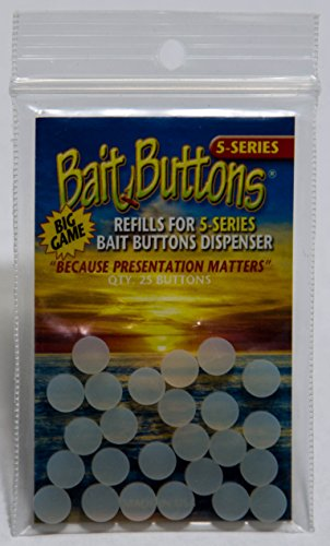 BAIT BUTTONS Big Game Refill, Translucent (Best Bait For Sturgeon Fishing)