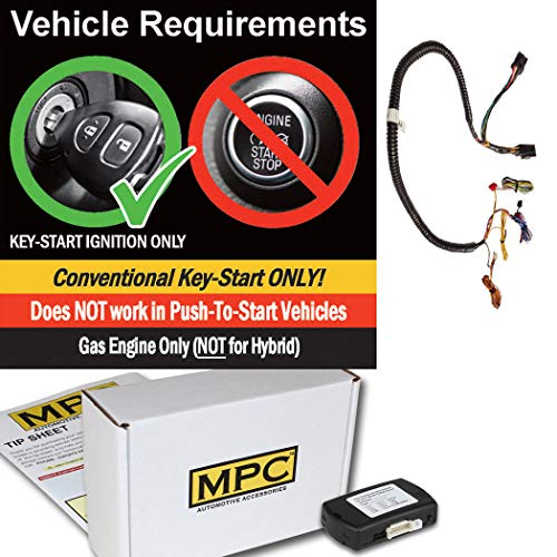 2016 Chrysler Plug - MPC Complete Remote Start Kit for 2011-2016 Chrysler Town & Country Plug & Play - Uses OEM Remotes - Firmware Preloaded