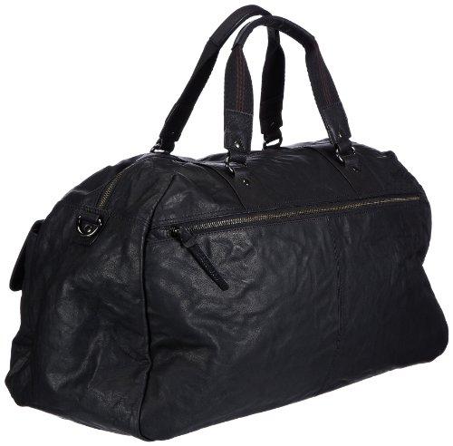 Sansibar Zonda - Bolso de mano de cuero unisex negro - negro
