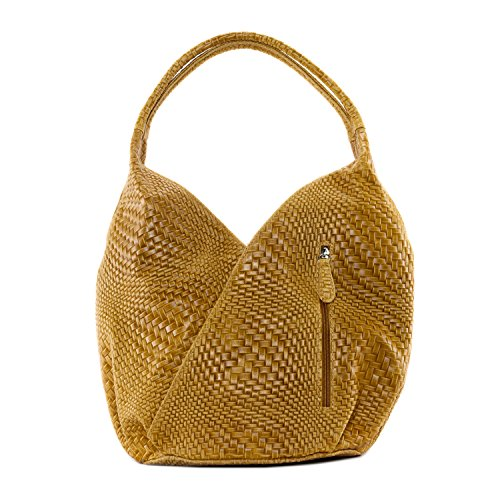 cuir tressé CUIR Mandalay collection DESTOCK nouvelle en Sac femme Main à Cognac Modèle FYq06F