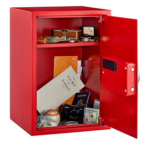 AdirOffice Security Safe with Digital Lock - Red - 2.32 Cubic Feet by Adir Corp. (Image #2)