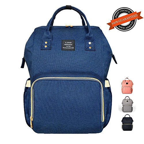 Diaper Bag Nappy Bag Travel Backpack Waterproof Multi-Function Mommy Bag for Baby Care Large Capacity Stylish and Durable Perfect for Travel Work Or Outing (Navy Blue)