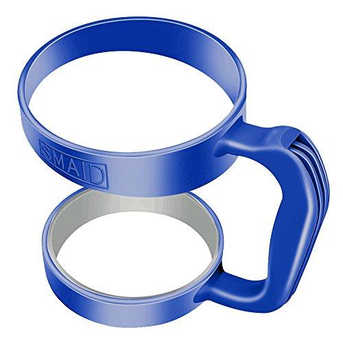 Smaid - Handle for 30 oz fits YETI Rambler Tumbler , Rtic, Ozark Trail , Kodiak, SIC, Boss Cup and many other 30 oz Tumblers Mug (Dark Blue)