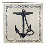 thomaspaul Anchor Shower Curtain, Ink