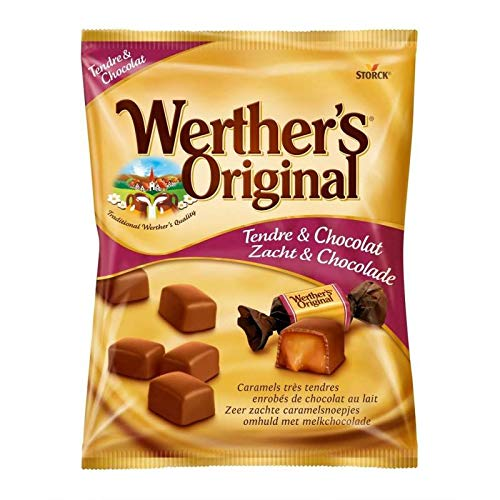 WertherS Original - Sobre De Caramel Tender Chocolate 180G - Caramel Tendre Chocolat Sachet 180G -