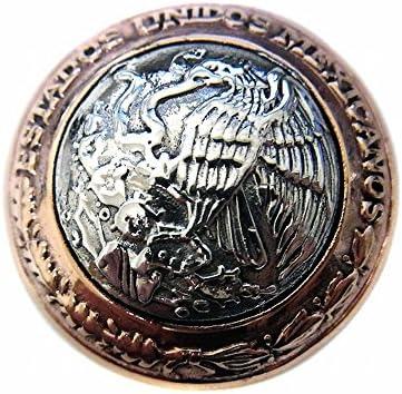 メキシカン イーグル 鷲 コンチョ ネジ式 スクリュー ボタン パーツ 財布 CONCHO シルバー925 銅製 Bタイプ
