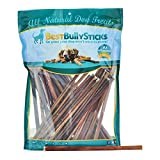100% Natural 12-inch Thin Bully Sticks by Best Bully Sticks (50 Pack)