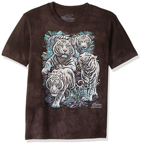 The Mountain Majestic White Tiger Child T-Shirt, Black, XL