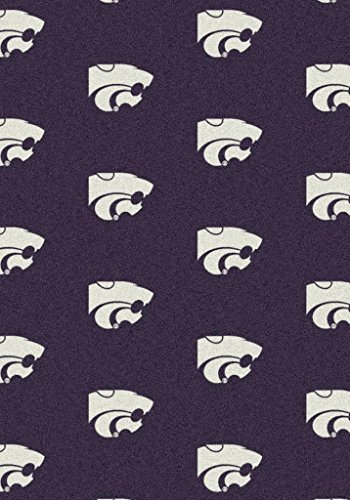 Oval 9'x12' KANSAS STATE - Custom NCAA Team Repeat Area Rug (41 sizes and shapes) Broadloom Carpet by MILLIKEN - Collegiate Football Logo with Premium Bound Edges
