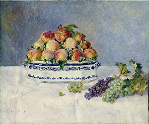 The Museum Outlet - Still Life with Peaches and Grapes, 1881 - Canvas Print Online Buy (40 X 50 Inch)