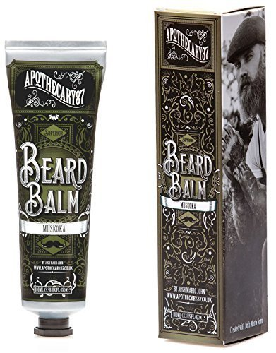 Apothecary 87, Muskoka Beard Balm Leave-in Conditioner, Smoked Maple Fragrance (3.38 fl.oz) by Apothecary