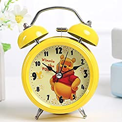 YOURNELO Cute Cartoon Boy's Girl's Numeral Alarm Clock (Yellow Winnie the Pooh)