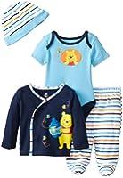 Disney Baby Boys' Winnie The Pooh 4 Piece Gift Set